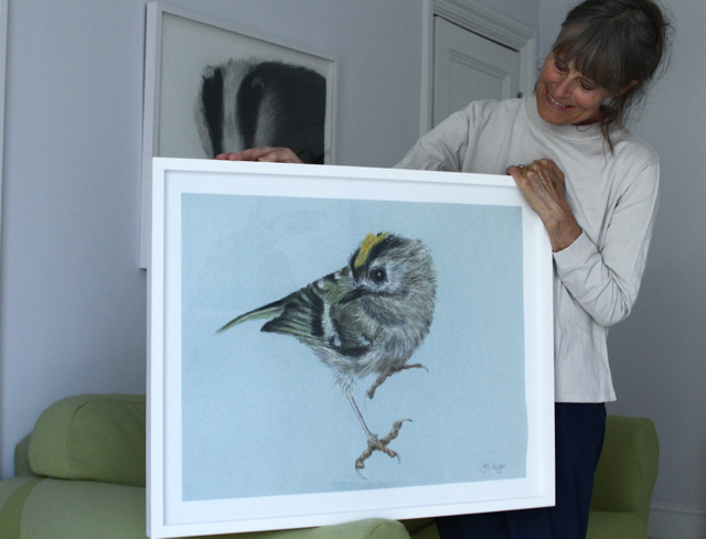 Jill with goldcrest
