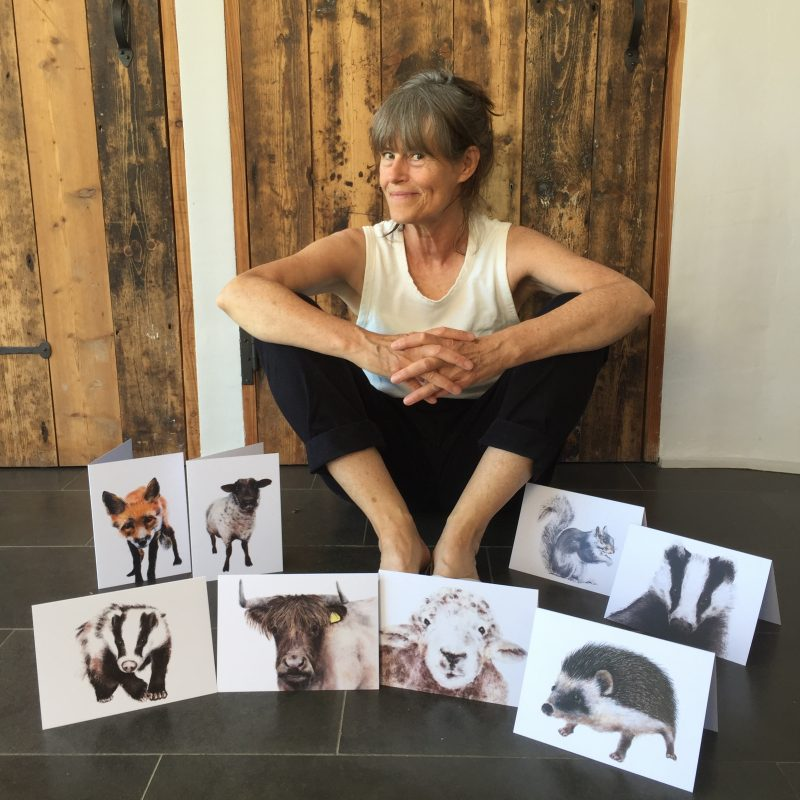 Jill with beasties cards