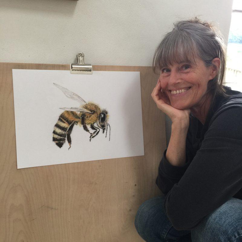 Jill with honeybee 1