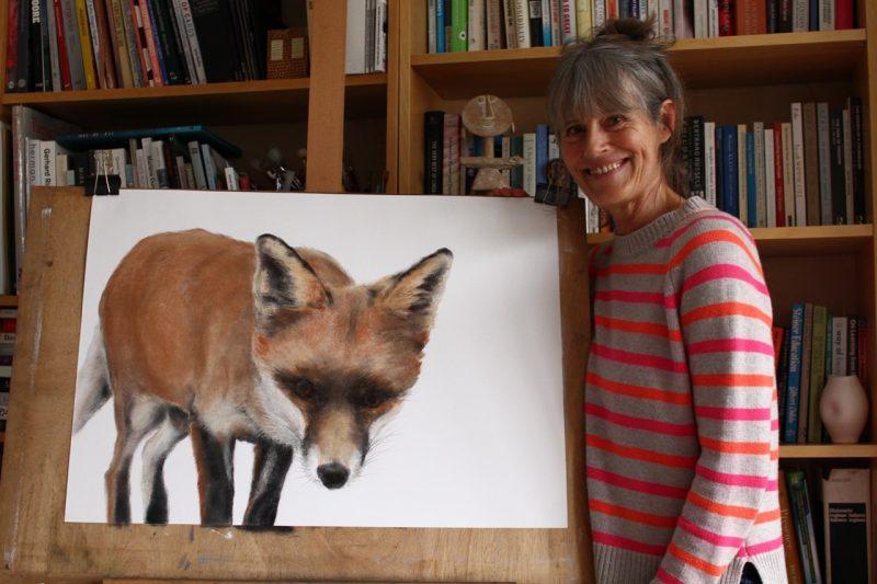 Fox cub 3 Pastel drawing