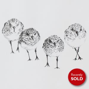 Sanderlings on the beach – SOLD